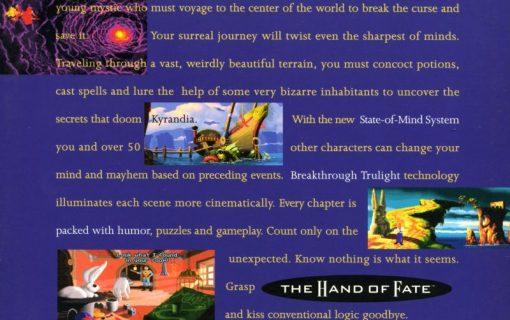 The Legend of Kyrandia Hand of Fate – Back Cover